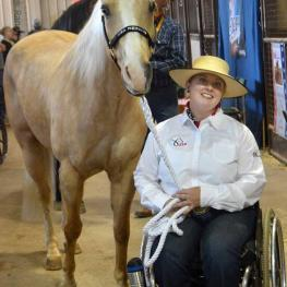 Jennifer Flanagan returns to Oklahoma City, OK for the USA Para Reining competition during the NHRA Derby.