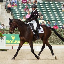 Jessica Phoenix (CAN) and Pavarotti danced their way into the lead after the first day of dressage at Rolex Kentucky