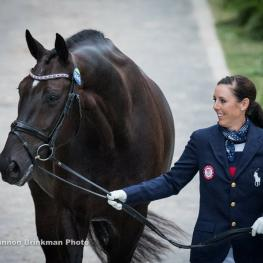 Kasey Perry Glass and Dublet at Olympic vet check.
