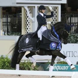 Katherine Bateson-Chandler and Alcazar wowed judges and earned a score of 73.325% in the Friday Grand Prix Freestyle class at the Adequan Global Dressage Festival