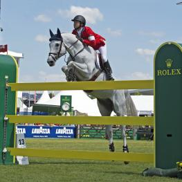 "Kent Farrington (USA) and Uceko, winners of the ""Prize of North Rhine-Westphalia"", the third and last qualifier for the ""Rolex Grand Prix"" on Sunday."