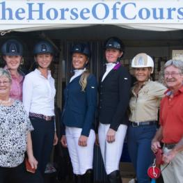Kim Herslow, Kassidy Peacock, Rebecca Waite, Shannon Orlob, Missy Fladland, Judy Sloan, Marty Haist and Beth Haist in front row at the Horse of Course Fashion Show and cocktail party.