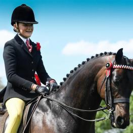 Kinvara Garner took the Part Bred and Anglo Arab Championship, having headed a good 148cm class on HM The Queen's 11-year-old Whalton Highwayman.