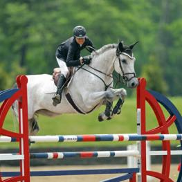 Laura Chapot and Thornhill Kate on their way to a $25,000 SmartPak Grand Prix win.