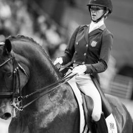 Laura Graves (USA) rides Verdades in The FEI World Cup™Dressage Final ll, Grand Prix Freestyle, April 1 2017  (Photo: Cara Grimshaw/FEI)