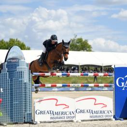 Lauren Hough and Ohlala on their way to a Great American $1 Million Grand Prix win.