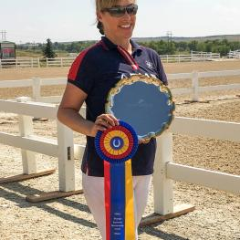 Lauren Woodruff received the Premier Equestrian award during the Dressage in the Rockies Fall I show at the Colorado Horse Park