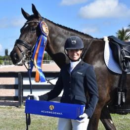 Lisa Wilcox and Ace of Clubs win The Accuhorsemat Accuracy Award