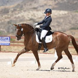Sarah Lockman and Balia blew away the competition in the FEI Young Horse finals 6-year-old division. (Photo: Terri Miller)