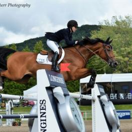 Lucy Deslauriers and Hester, international bromont