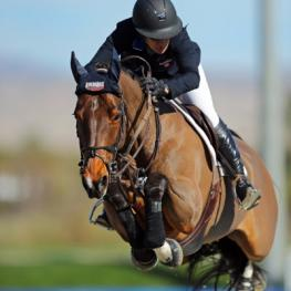 Mandy Porter and Milano on their way to a $25,000 SmartPak Grand Prix win.