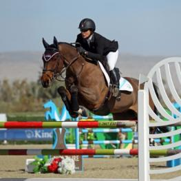 Mandy Porter and Milano on their way to a $75,000 Horseware Ireland Grand Prix win.