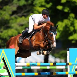 Matthias Hollberg and Czechmate on their way to a $25,000 Brook Ledge Grand Prix win.