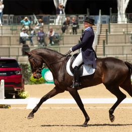 Marily Little and RF Scandalous took the lead after Dressage at the 2018 Land Rover Kentucky Three-Day Event.