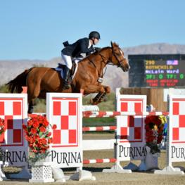 McLain Ward and Rothchild win the $100,000 Coachella Classic at National Sunshine Series II in Thermal, CA.