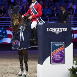 McLain WARD (USA) rides HH AZUR in the Longines FEI World Cup™ Jumping Final II , Omaha USA, March 31 2017