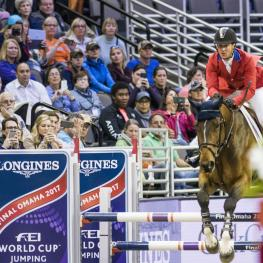 McLain WARD (USA) rides HH AZUR in The Longines FEI World Cup™ Jumping Finals lll, Omaha USA, April 2 2017