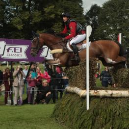 Michael Jung (GER), reigning Olympic and European champion, is aiming to add Les 4 Etoiles de Pau, first leg of the FEI Classics™ 2015/2016 season, to his trophy cupboard (he is pictured here at the Burghley leg, which he won, of the 2014/2015 series)