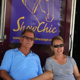 The owners of ShowChic Dressage, Michele and Doug Hundt are headed up north with their mobile boutique for multiple fall events. (Photo courtesy of Michele Hundt)