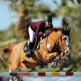Michelle Parker and Cupilor on their way to a $75,000 Go Rentals Grand Prix win.