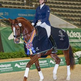 "Windermere DDB gave rider Missy Gilliland of Phoenix ""everything he had"" to win the Training Level Open Championship at the 2016 US Dressage Finals presented by Adequan®."