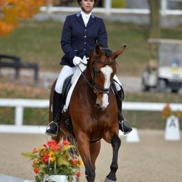 Molly Schiltgen and Leisl TF earned their first ribbon today from the 2015 US Dressage Finals presented by Adequan®.