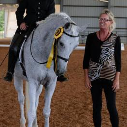 Olwen Busch, a former member of the Northeast Florida Equestrian Society Board of Directors,