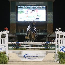 Paige Johnson and Luke Skywalker 46 competing at Tryon in fall of 2015