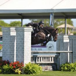 Patricia Griffith and Black Label won the $50,000 Hunter Derby on The Atlantic Opening Day to kick off the 2014 Hampton Classic ©ESI