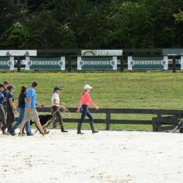 Riders preparing for the start of competition at The Great Meadow International, presented byAdequan®
