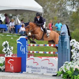 Roberto Teran and Woklahoma on their way to a Great American $1 Million Grand Prix win.