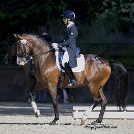 Sahar and Whitman piaffe their way to the top to win the Grand Prix at The Eastern States Dressage and Combined Training Association (ESDCTA) Summer Days Dressage Show in Gladstone.