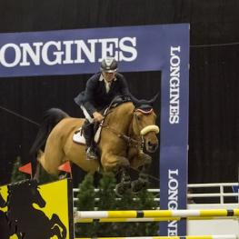 Samuel Parot and winner of the $35,000 Stone Ridge 1.45 m Royal West International Championship Phase One at Royal West, Calgary, AB, Canada