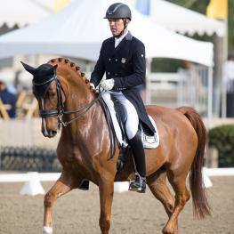 Guenter Seidel and Zero Gravity won the CDI Grand Prix Freestyle at the Mid-Winter Dressage CDI-W.