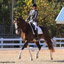 Stephanie McNutt with Emalina won The Horse of Course High Score Award at the Great American Insurance Group/United States Dressage Federation (GAIG/USDF) Region 1 Dressage Championships