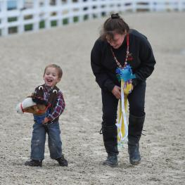"Make and Take Stick Horse: We supply the ""horse"" and all the trimmings to deck-out your mount for a ride in the famed Dixon Oval – with professional announcers and judges."