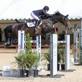 Susan Hutchison and Notable won the $10,000 Meyer Selles 1.40m Jumpers