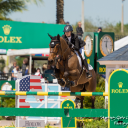 Tiffany Foster riding Victor for owner Artisan Farms at the 2016 Winter Equestrian Festival in Wellington, FL.