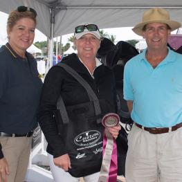 Tyra Vernon of BREC Dressage is presented Custom Saddlery's Most Valuable Rider Award week three of the 2018 Adequan Dressage Festival.