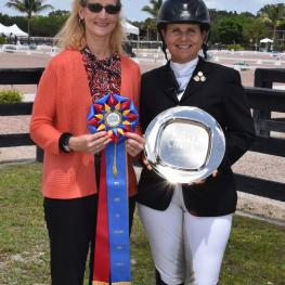 Grand Prix rider and trainer Heather Bender was presented with the Triple Crown Dressage Excellence Award during the Gold Coast Finale I & II Dressage Shows