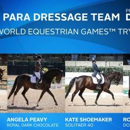 US Para Team for FEI World Equestrian Games™ Tryon 2018