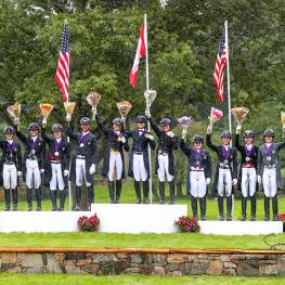 The top-three teams of the USDF North American Young Rider Dressage Team Championship (SusanJStickle.com)