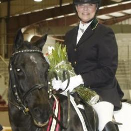 Wanda Wiggins, Dusine, The Dressage Foundation's Century Club, Jacksonville Equestrian Center