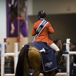 McLain WARD (USA) rides HH AZUR in The LONGINES FEI World Cup™Jumping Final 1, Omaha USA, March 30 2017