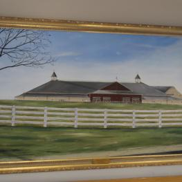 Painting of the Equestrian Center at Pineland Farm Photo: © Mary Phelps