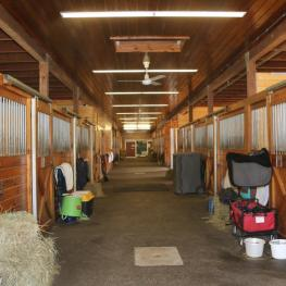 One of the interior barns at the Equestrian Center at Pineland Farm. Photo: © Mary Phelps
