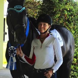 Omega Alpha Ambassador Katherine Bateson-Chandler enjoyed an impressive winning show season with the KWPN gelding Alcazar