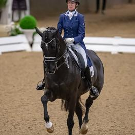 Alice Tarjan and Candescent earned the first title awarded at the 2018 US Dressage Finals in the I-II Adult Amateur division. (Photo: Susan J. Stickle)