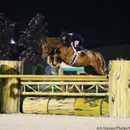 Brunello and Boyd during their winning handy round.