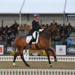 Carl Hester and Nip Tuck members of the British silver medal team at the World Equestrian Games last year, led from the front to win the international grand prix at Royal Windsor Horse Show.